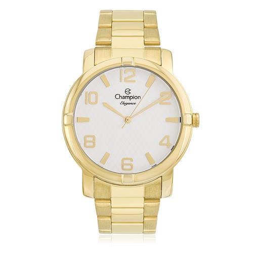 Relógio Feminino Champion Elegance Analógico CN25181H Dourado com fundo branco