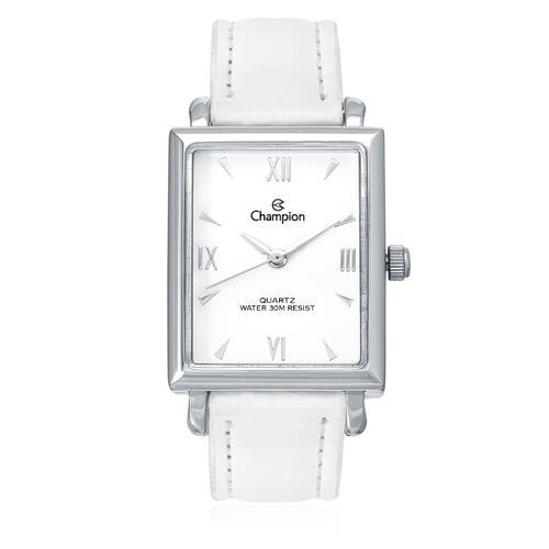 Relógio Feminino Champion Analógico CN28053D Couro Branco 42976