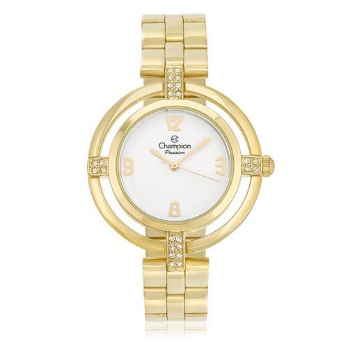 Relógio Feminino Champion Passion Analógico CN27143H Dourado com Cristais