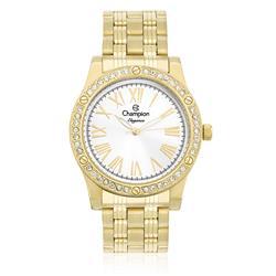Relógio Feminino Champion Elegance Analógico CN27287H Dourado com Cristais
