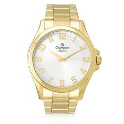 Relógio Feminino Champion Elegance Analógico CN26377H Dourado fundo prateado