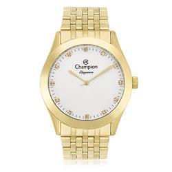 Relógio Feminino Champion Elegance Analógico CN26742H Dourado com cristais