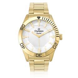 Relógio Feminino Champion Crystal CN27214H Dourado com Visor Bisotê