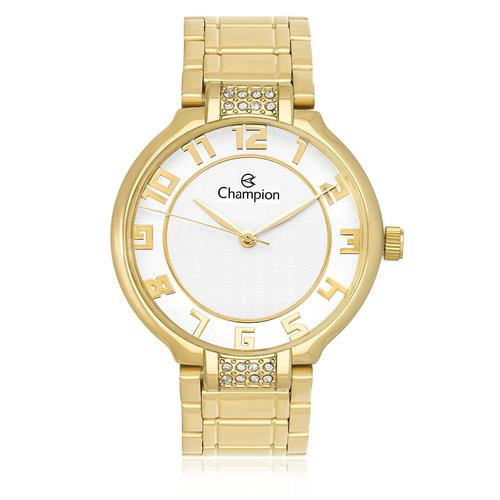 Relógio Feminino Champion Analógico CN29552H Dourado com cristais