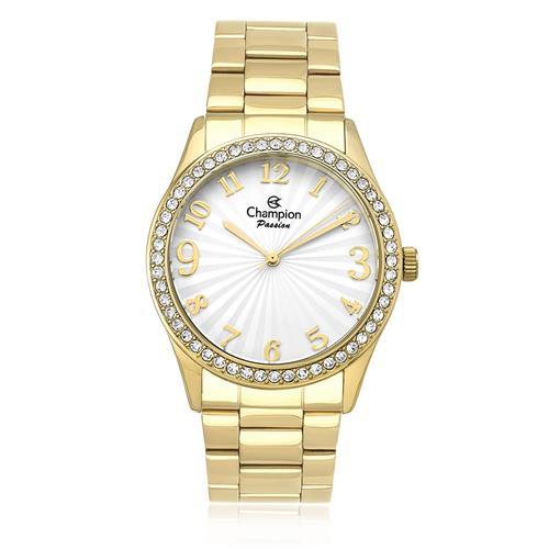 Relógio Feminino Champion Passion Analógico CN29472H Dourado com Cristais