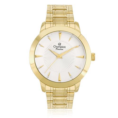 Relógio Feminino Champion Passion Analógico CN29258H Dourado com cristais