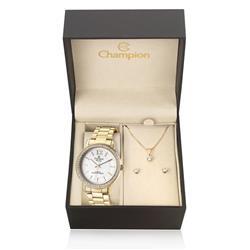 Relógio Feminino Champion Passion Analógico CN29445W Kit com Colar e Par de Brincos