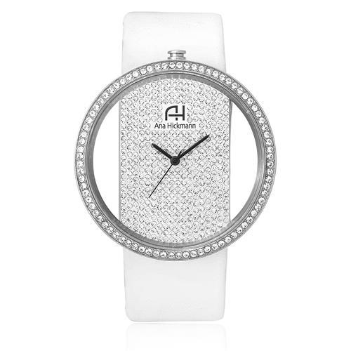 Relógio Feminino Ana Hickmann Analógico AH28473Q Couro Branco