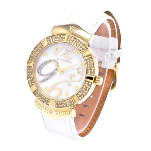 Relógio Feminino Victor Hugo Analógico VH10080LST/28 Couro Branco 43057