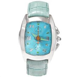 Relógio Chronotech Analógico 7468M Couro Azulado