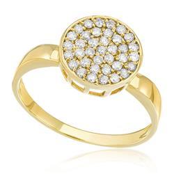 Anel Chuveiro com 40 Pts em Diamantes, em Ouro Amarelo