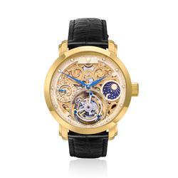 Relógio Constantim Tourbillon Gold ZW30161X Dourado com couro preto