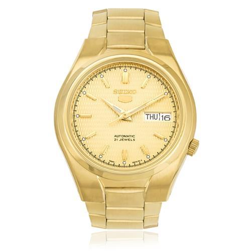 Relógio Masculino Seiko 5 Automático SNK610B1 C1KX Dourado