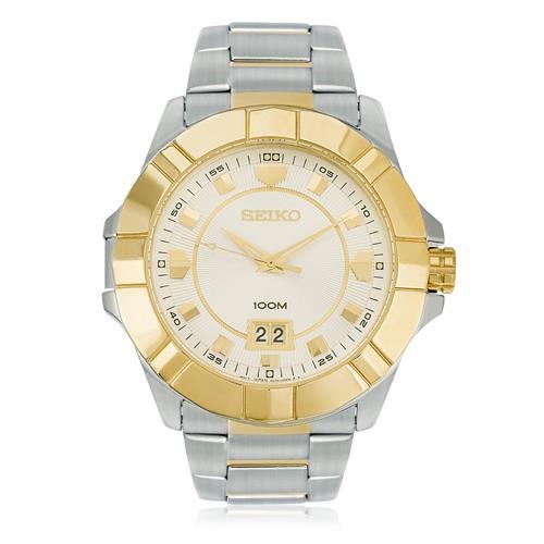 Relógio Masculino Seiko Analógico SUR134B1 S2SK Aço Misto
