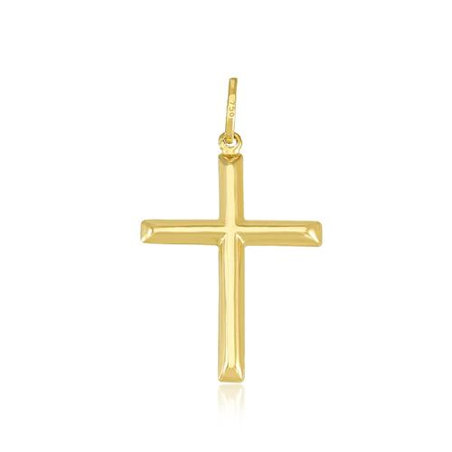 Pingente Cruz em Ouro Amarelo 18 Kilates