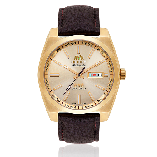 Relógio Masculino Orient Automatic 469GP069 C1NX Couro