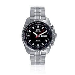 Relógio Masculino Orient Automatic GMT 469SS057 P1SX Fundo Preto