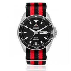 Relógio Masculino Orient Automatic 469SS064 P1PV Nylon Vermelho e Preto