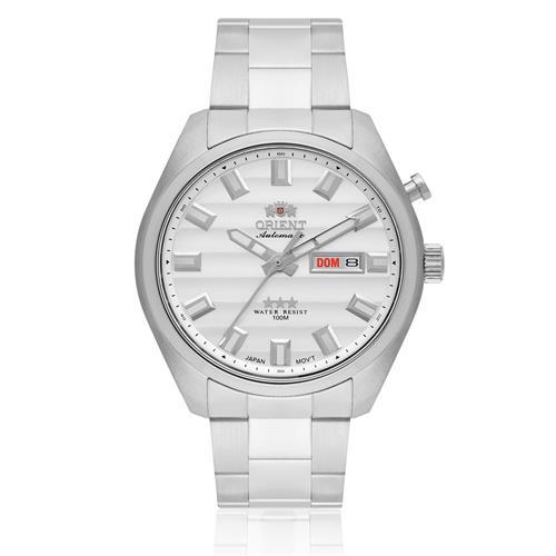 Relógio Masculino Orient Automatic 469SS076 S1SX Fundo Prateado