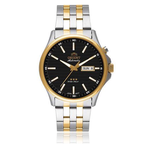 Relógio Masculino Orient Automatic 469TT043 P1SK Fundo Preto