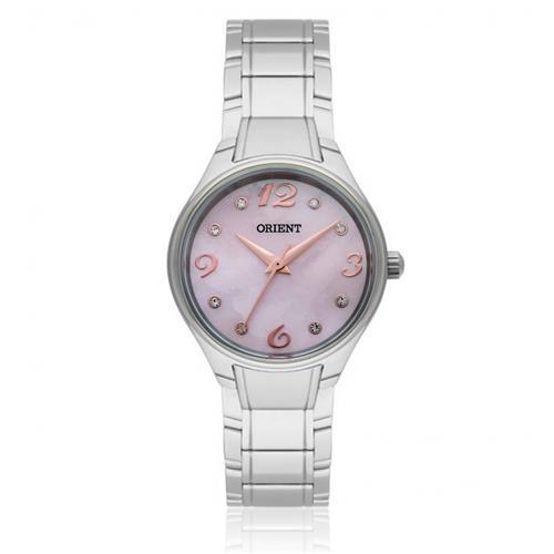 Relógio Feminino Orient Analógico FBSS0053 R2SX Fundo Rosa com Cristais