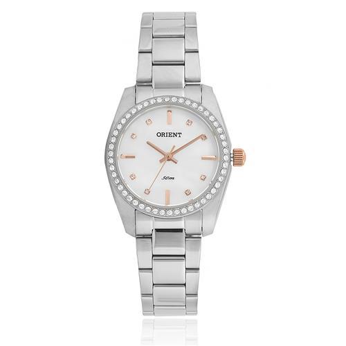 Relógio Feminino Orient Analógico FBSS0058 B1SX Aço com cristais