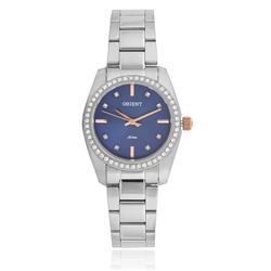 Relógio Feminino Orient Analógico FBSS0058 D1SX Fundo Azul com cristais