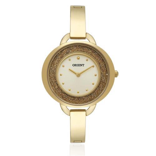 Relógio Feminino Orient Analógico FGSS0050 C1KX Dourado com Strass