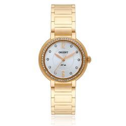 Relógio Feminino Orient Analógico FGSS0052 S2KX Dourado com cristais
