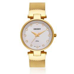 Relógio Feminino Orient Analógico FGSS0070 S1KX Dourado com cristais