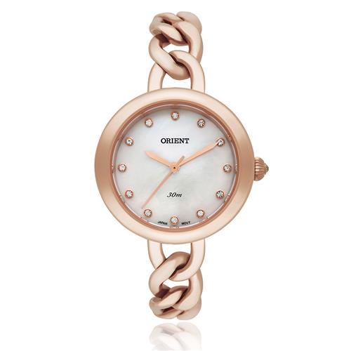 Relógio Feminino Orient Eternal Analógico FRSS0010 B1RX Rose com cristais