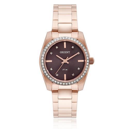 Relógio Feminino Orient Analógico FRSS0016 M1RX Rose com cristais