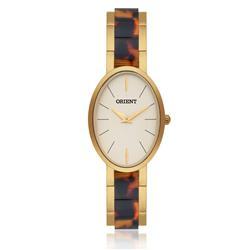 Relógio Feminino Orient Unique FTSS0034 C1KM Dourado com Acetato