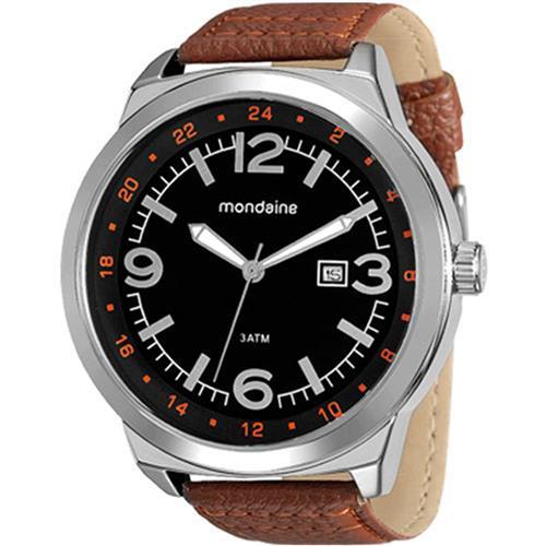 Relógio Masculino Mondaine 76540G0MGNH1 Couro Marrom