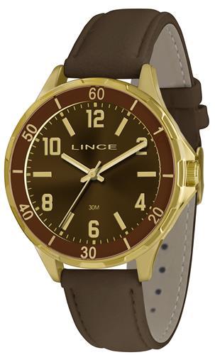 Relógio Feminino Lince Analógico LRC4316L K158N2NX Couro Marrom