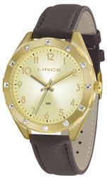 Relógio Feminino Lince Analógico LRC4317L K154C2NX Dourado com cristais
