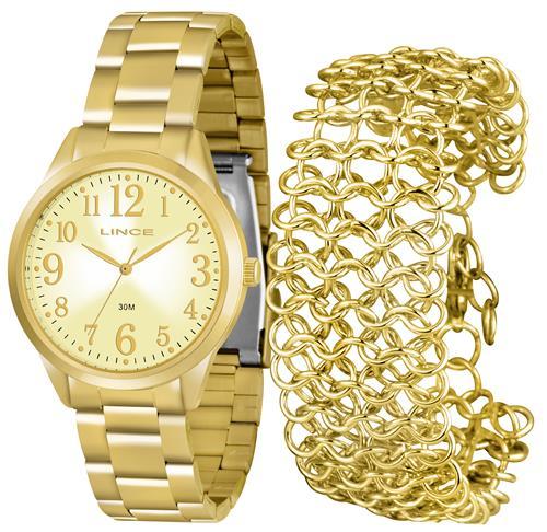Relógio Feminino Lince Analógico LRG4262L K073C2KX Kit com Bracelete