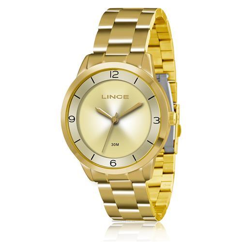Relógio Feminino Lince Analógico LRG4322L C2KX Dourado