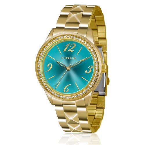 Relógio Feminino Lince Analógico LRG4343L D2KX Fundo Azul