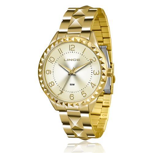 Relógio Feminino Lince Analógico LRG4380L C2KX Dourado