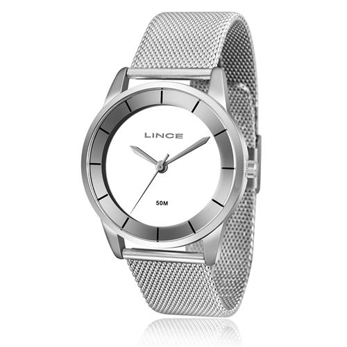 Relógio Feminino Lince Analógico LRM4405L B1SX Pulseira Esteira