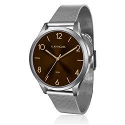 Relógio Feminino Lince Analógico LRT4394L N2SX Fundo Marrom