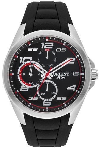 Relógio Masculino Orient Analógico MBSPM013 PVPX Fundo Preto e Vermelho
