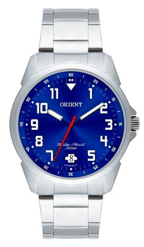 Relógio Masculino Orient Analógico MBSS1154A D2SX Fundo Azul