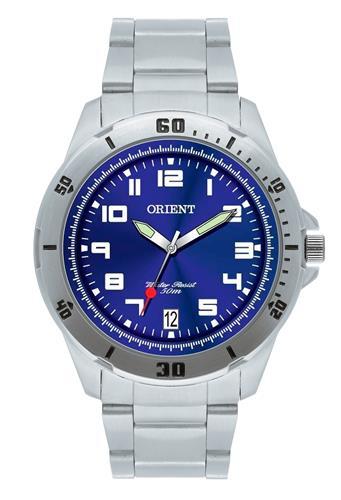 Relógio Masculino Orient Analógico MBSS1155A D2SX Fundo Azul