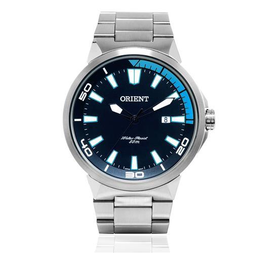 Relógio Masculino Orient Analógico MBSS1196A PASX Fundo Preto e Azul