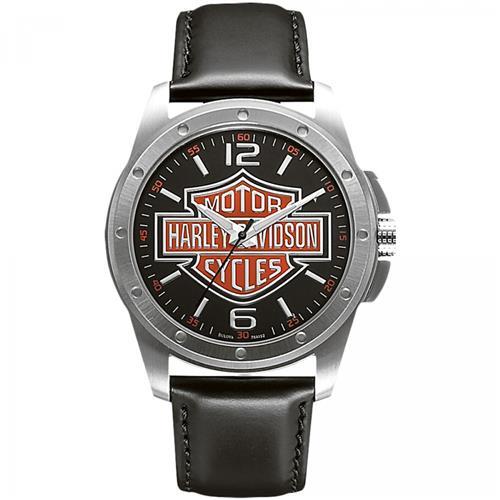Relógio Masculino Bulova Harley Davidson WH30019T Couro Preto