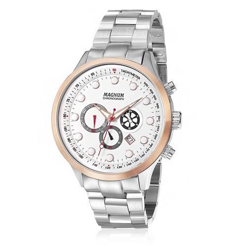 Relógio Masculino Magnum Chronograph MA32569Z Fundo Branco