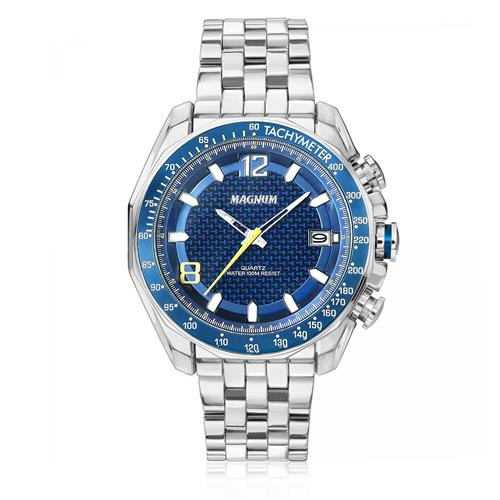 Relógio Masculino Magnum MA32176F Fundo Azul