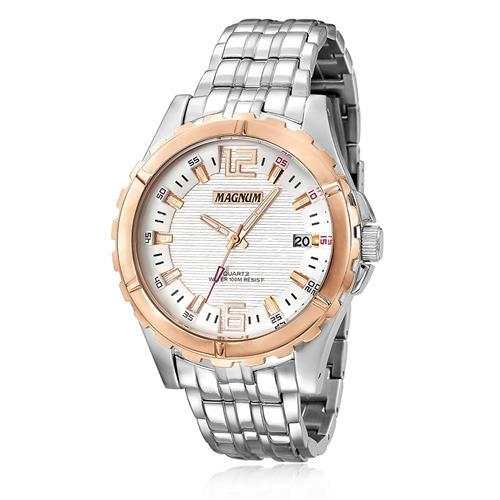 Relógio Masculino Magnum MA32363Z Detalhes em Rose
